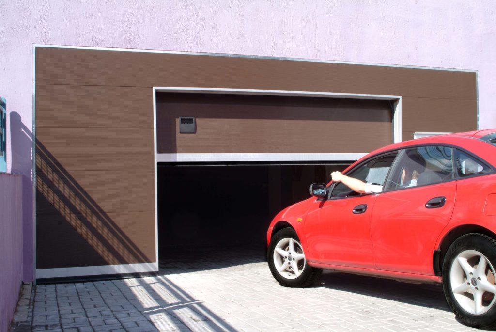 автоматические ворота с дверью в гараж в чебоксарах