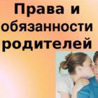 Содержание родительских прав и обязанностей