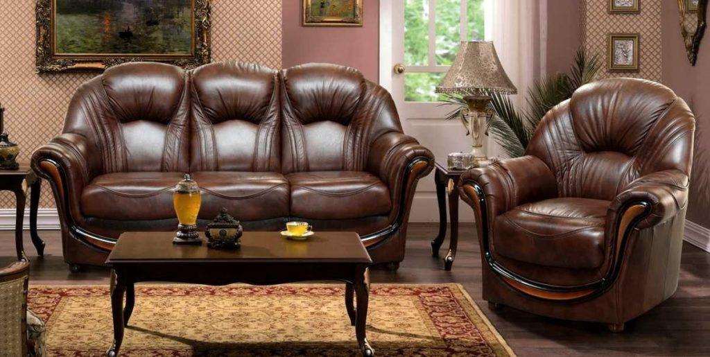 Плюсы мягкой мебели из кожи