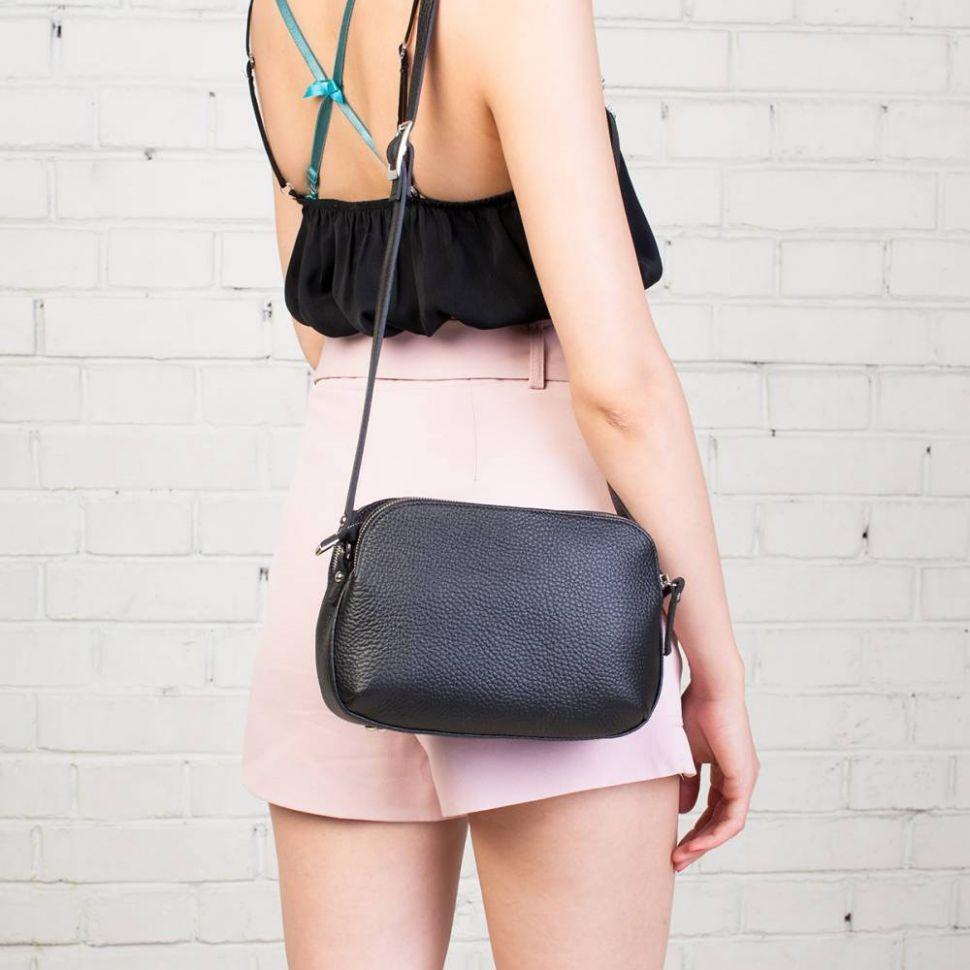 Популярные модели кожаных наплечных сумок
